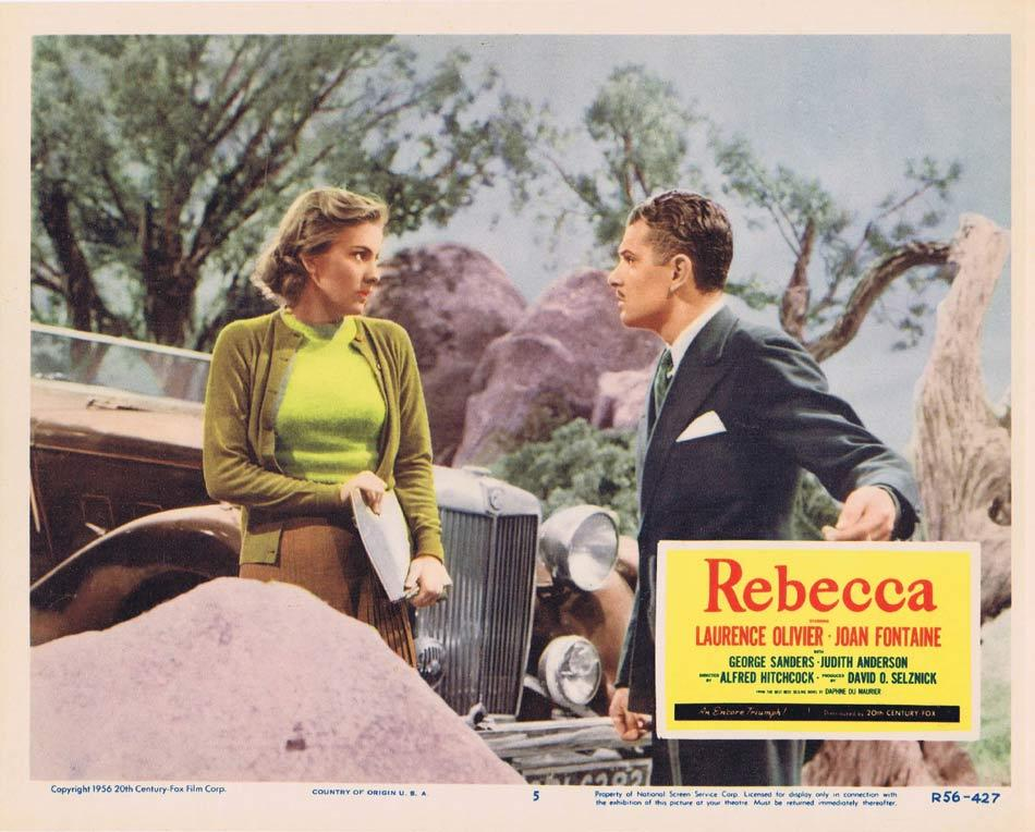 REBECCA Lobby card 5 1956r Alfred Hitchcock Olivier Fontaine