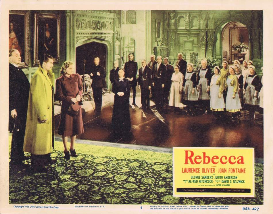 REBECCA Lobby card 6 1956r Alfred Hitchcock Laurence Olivier