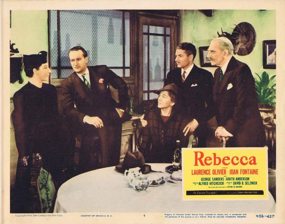 REBECCA Lobby card 7 1956r Alfred Hitchcock Laurence Olivier