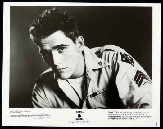 REBEL 1985 Matt Dillon Bryan Brown Debra Byrne Original Movie Still 1