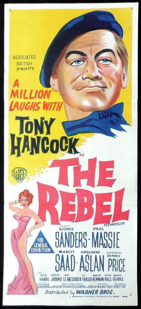THE REBEL Daybill Movie poster TONY HANCOCK British Comedy