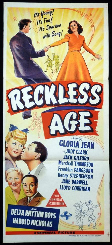 RECKLESS AGE Original Daybill Movie Poster Gloria Jean Henry Stephenson Kathleen Howard