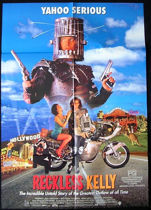 RECKLESS KELLY 1993 Yahoo Serious Biker ORIGINAL One Sheet poster
