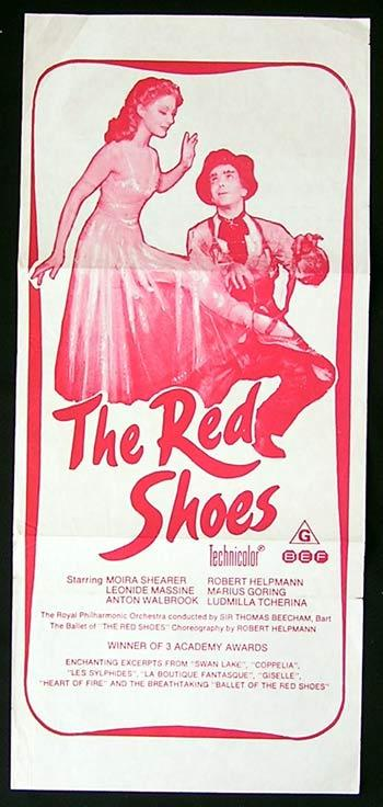 THE RED SHOES Daybill Movie poster 1970sr Moira Shearer Robert Helpmann