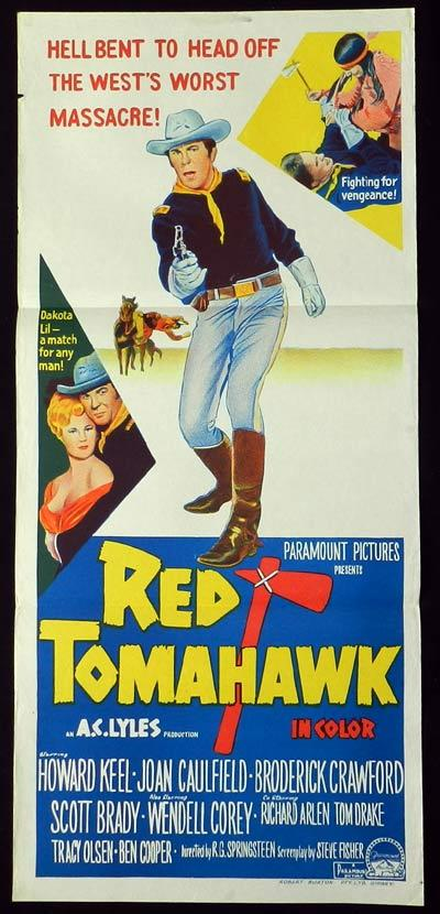 RED TOMAHAWK Daybill Movie poster Howard Keel