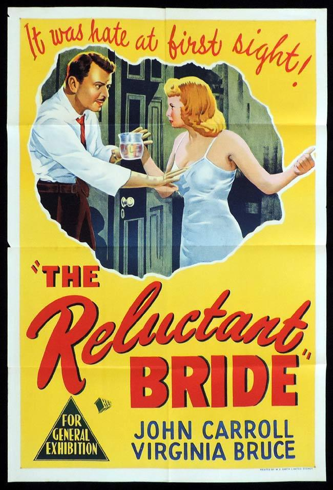 THE RELUCTANT BRIDE Original One sheet Movie Poster Virginia Bruce John Carroll