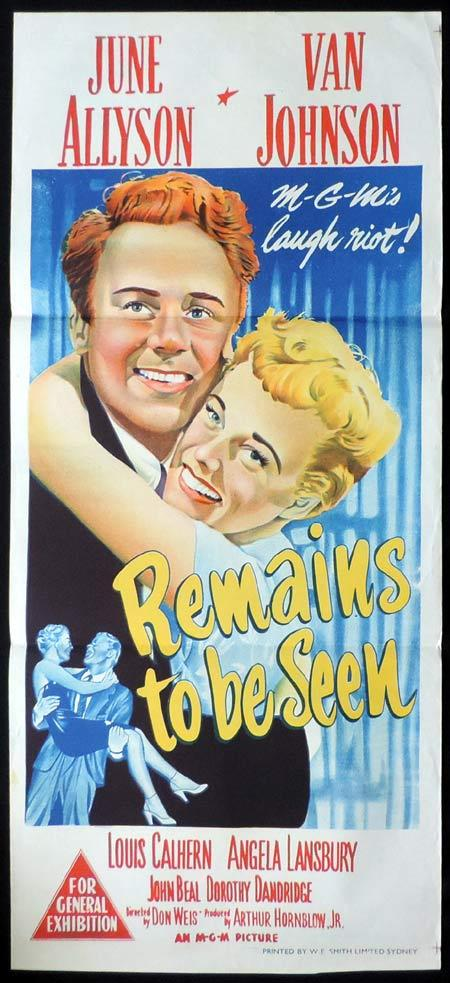 REMAINS TO BE SEEN Original Daybill Movie Poster June Allyson Van Johnson