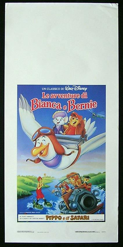 THE RESCUERS DOWN UNDER Italian Locandina Movie Poster Disney