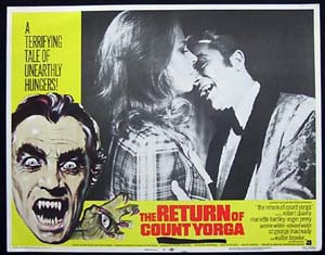 RETURN OF COUNT YORGA, The '71-Robert Quarry-US Lobby Card #2