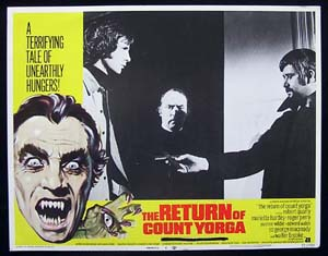 RETURN OF COUNT YORGA, The '71-Robert Quarry-US Lobby Card #4