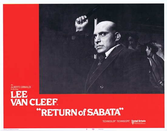 RETURN OF SABATA Lobby Card 3 Lee Van Cleef Spaghetti Western