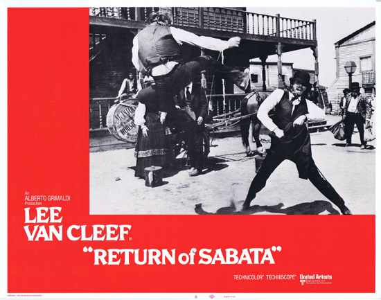 RETURN OF SABATA Lobby Card 6 Lee Van Cleef Spaghetti Western