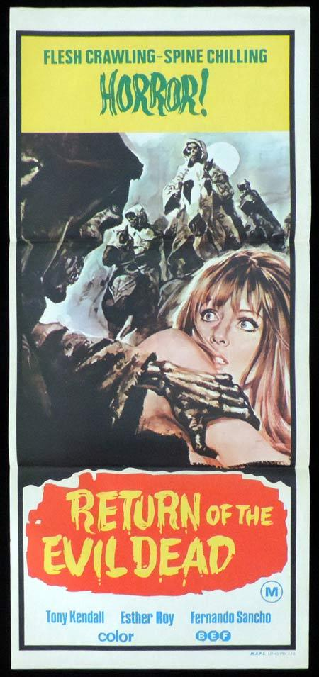 Return of the Evil Dead, Amando de Ossorio, Tony Kendall, Fernando Sancho, Esperanza Roy, Frank Braña