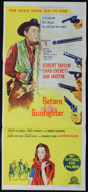 RETURN OF THE GUNFIGHTER Daybill Movie poster Dan Duryea Western
