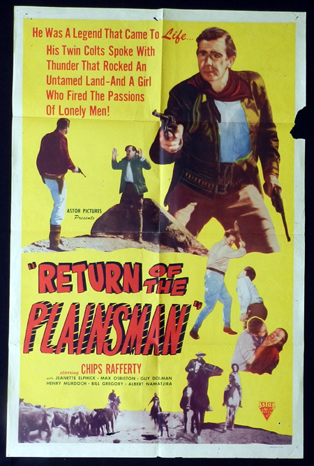 THE PHANTOM STOCKMAN aka RETURN OF THE PLAINSMAN 1953 US One Sheet Movie Poster Chips Rafferty