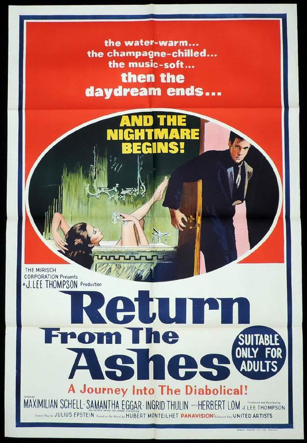 RETURN FROM THE ASHES One sheet Movie poster Maximilian Schell