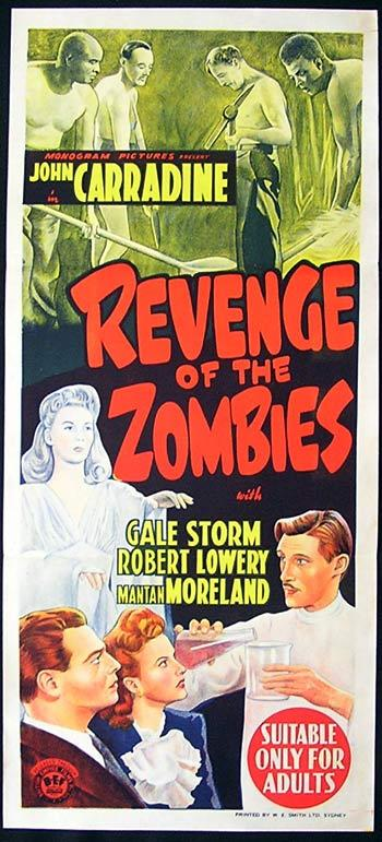 REVENGE OF THE ZOMBIES Original Daybill Movie Poster John Carradine Gale Storm