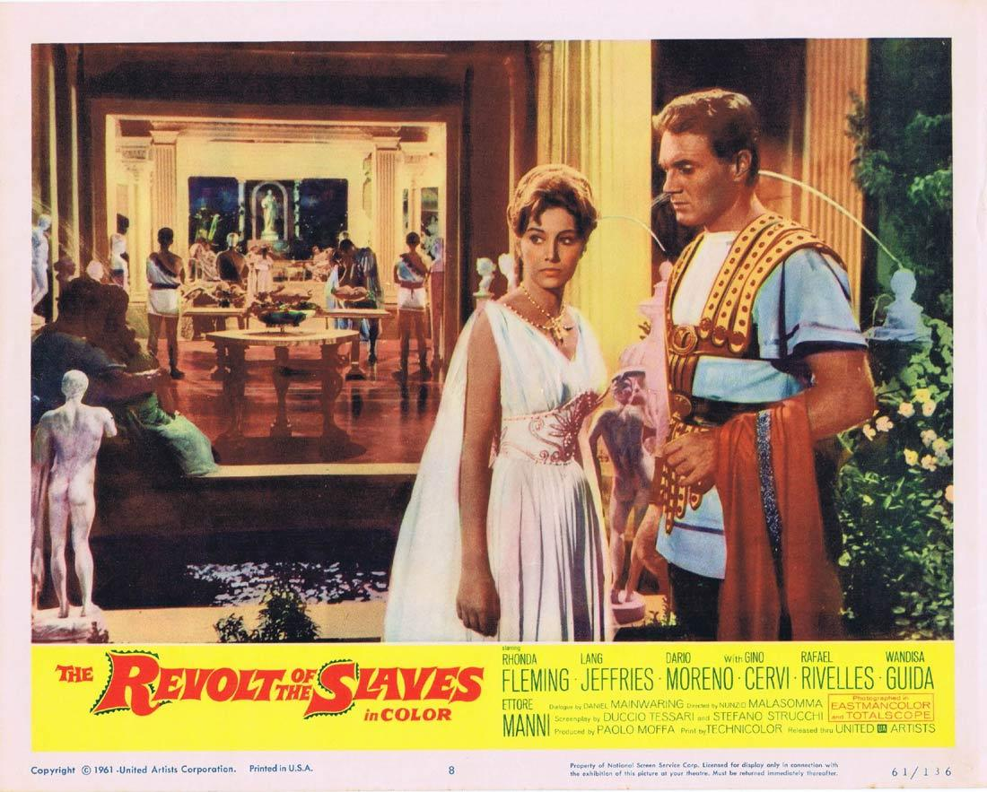 THE REVOLT OF THE SLAVES Lobby Card 8 Rhonda Fleming