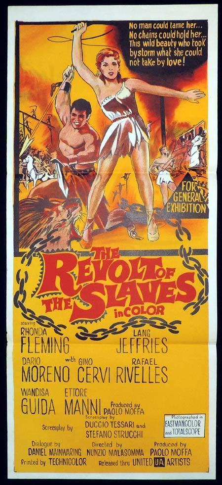 REVOLT OF THE SLAVES Original Daybill Movie Poster Rhonda Fleming