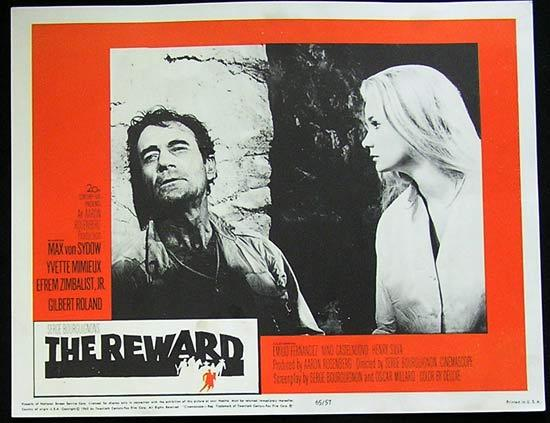 REWARD '65 Max Von Sydow-Yvette Mimieux US Lobby card #3