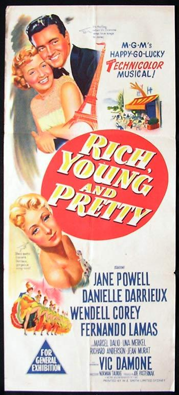 RICH YOUNG AND PRETTY Daybill Movie poster Jane Powell