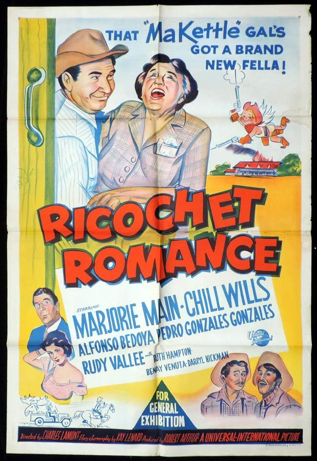RICOCHET ROMANCE One Sheet Movie Poster Marjorie Main Chill Wills