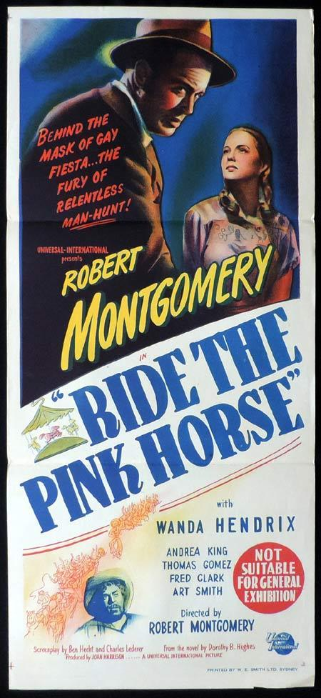 RIDE THE PINK HORSE Original Daybill Movie Poster Robert Montgomery