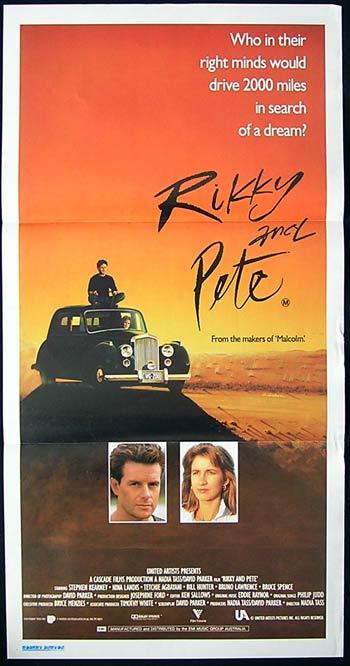 RIKKY AND PETE Movie Poster 1988 Nadia Tass Australian Daybill Movie poster