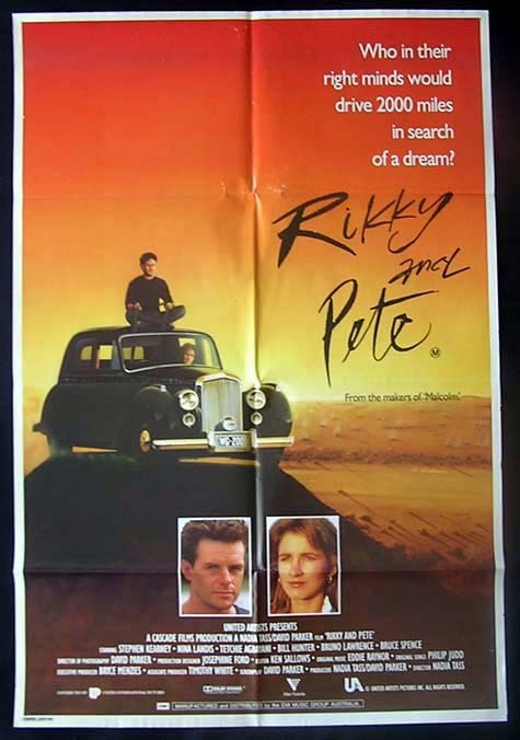 RIKKY AND PETE Movie Poster 1988 Nadia Tass Australian One sheet Movie poster