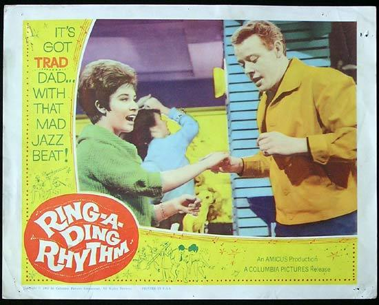 RING A DING RHYTHM aka ITS TRAD DAD '62 Helen Shapiro RARE JAZZ US Lobby Card