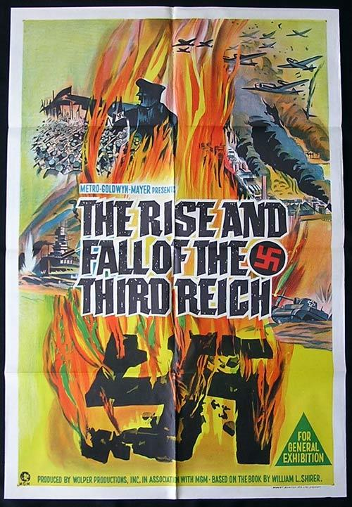 THE RISE AND FALL OF THE THIRD REICH 1968 One Sheet Movie Poster Richard Baseheart