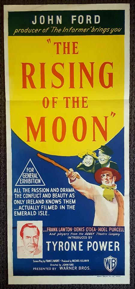 THE RISING OF THE MOON Original Daybill Movie Poster JOHN FORD Cyril Cusack Noel Purcell
