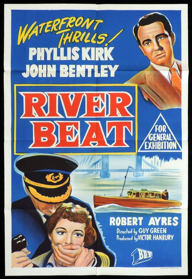 RIVER BEAT Original One sheet Movie Poster Waterftont Thrills FIlm Noir