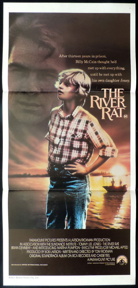 THE RIVER RAT Original Australian Daybill Movie poster Tommy Lee Jones