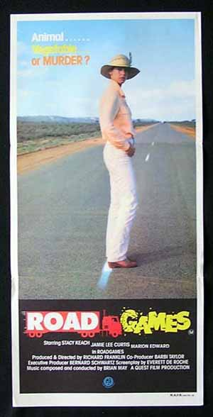 ROAD GAMES 1981 Jamie Lee Curtis RARE Movie poster