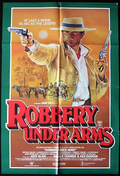 ROBBERY UNDER ARMS 1985 Sam Neill RARE One sheet Movie poster