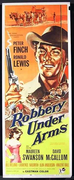 ROBBERY UNDER ARMS Movie Poster 1957 Rare PETER FINCH US Insert Movie Poster