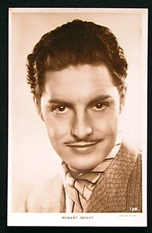 ROBERT DONAT (Star of Hitchcock's The 39 Steps) Rare Publicity Photo