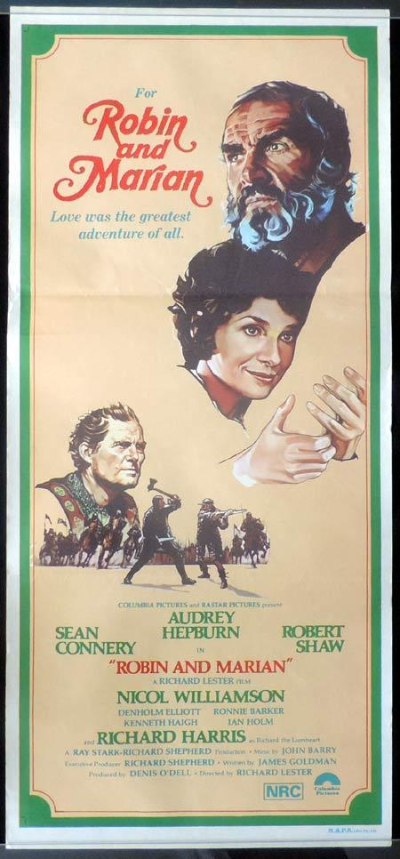 ROBIN AND MARION Daybill Movie Poster Audrey Hepburn Sean Connery