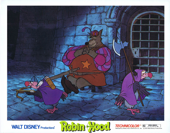 ROBIN HOOD Lobby Card 2 Walt Disney Productions Peter Ustinov