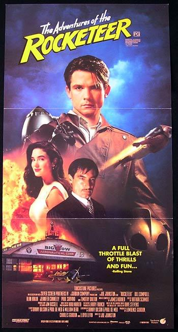 THE ROCKETEER Daybill Movie poster Bill Campbell Timothy Dalton