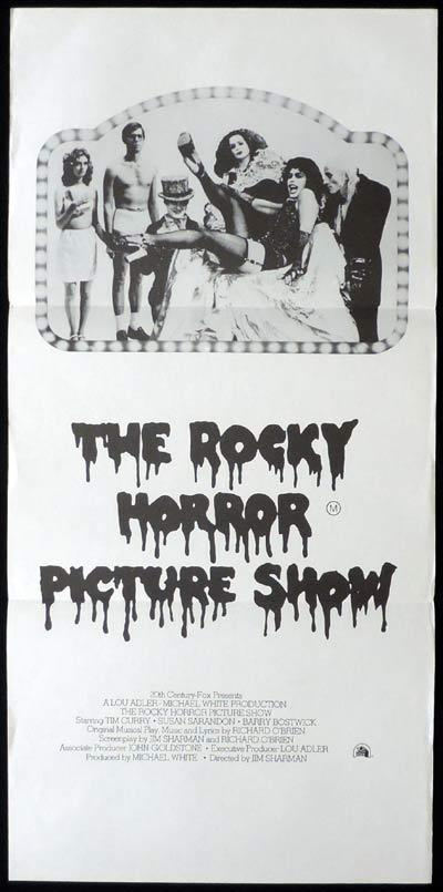"ROCKY HORROR PICTURE SHOW Daybill Movie Poster Tim Curry ""B"""
