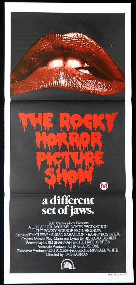 ROCKY HORROR PICTURE SHOW Daybill Movie Poster Different set of Jaws