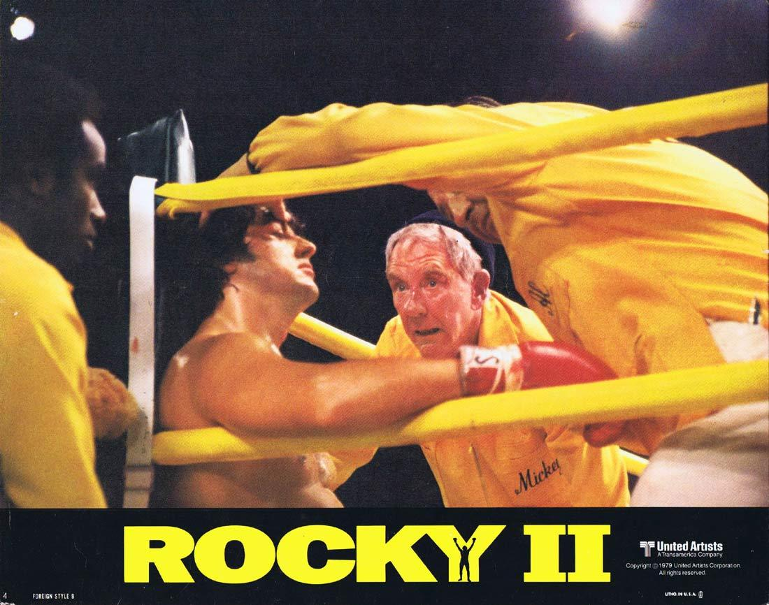 ROCKY II Original Lobby Card 4 Sylvester Stallone Boxing