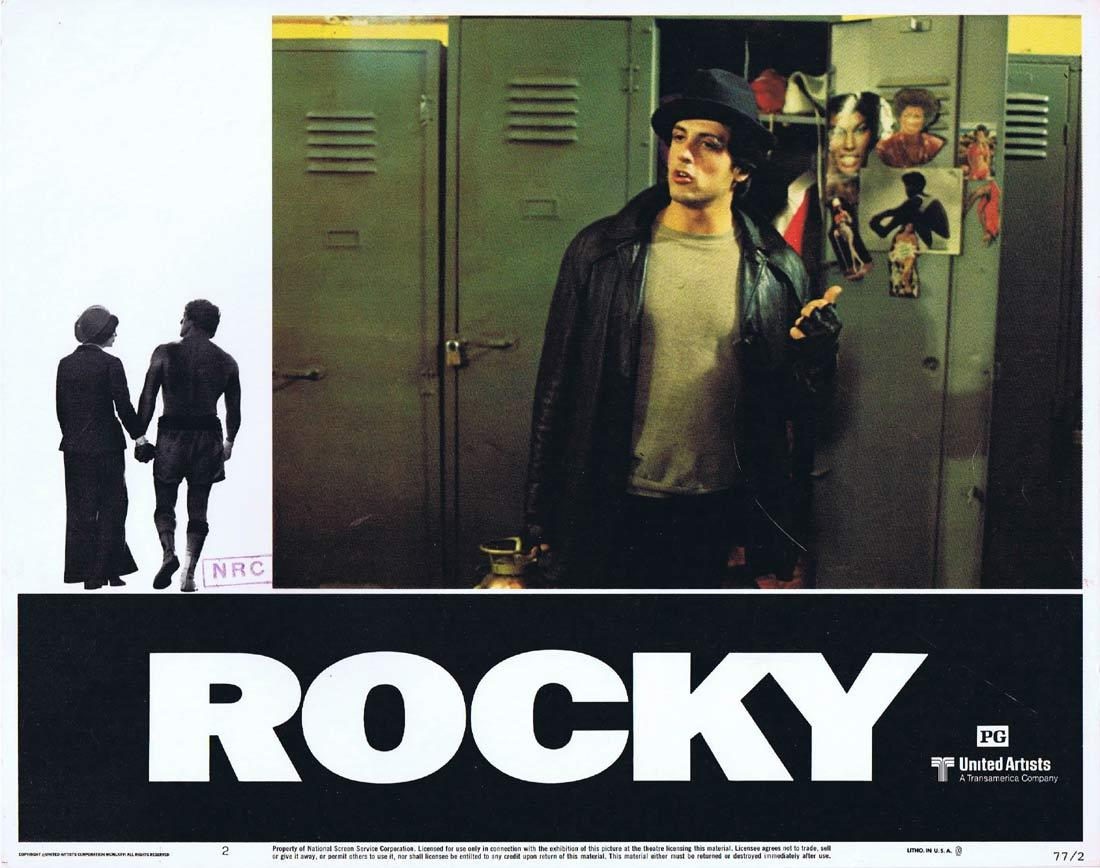ROCKY Original Lobby Card 2 Sylvester Stallone Boxing