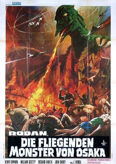 RODAN Original Italian Movie Poster Toho Science Fiction pterosaurs