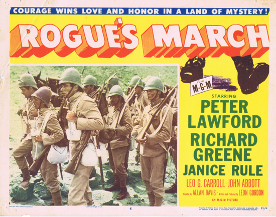 ROGUE'S MARCH 1953 US Lobby Card 6 Peter Lawford