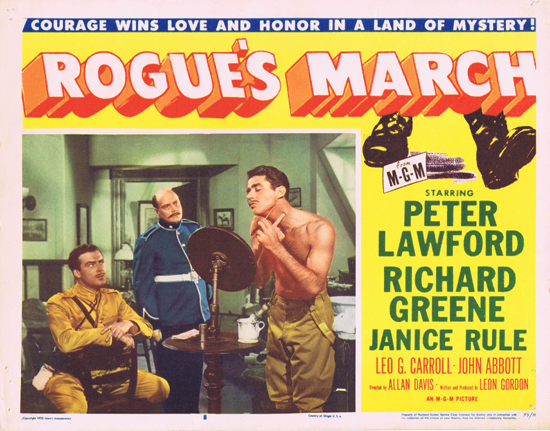 ROGUE'S MARCH 1953 US Lobby Card 8 Peter Lawford