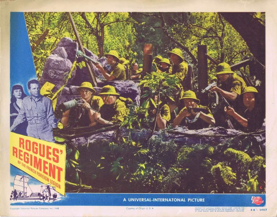 ROGUE'S REGIMENT Lobby Card Dick Powell VIncent Price