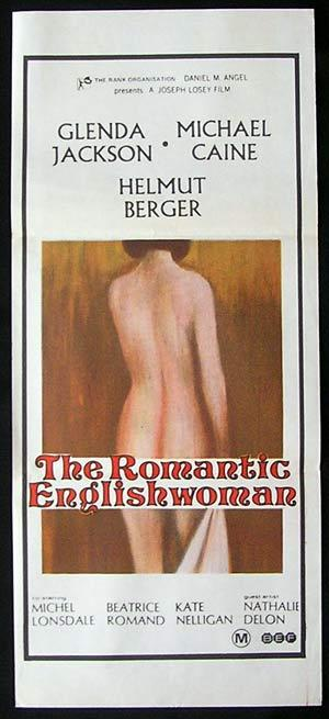 THE ROMANTIC ENGLISHWOMAN Original Daybill Movie Poster Michael Caine Glenda Jackson